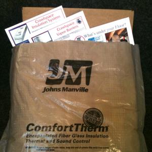 ComfortTherm® Fiberglass Insulation Sample